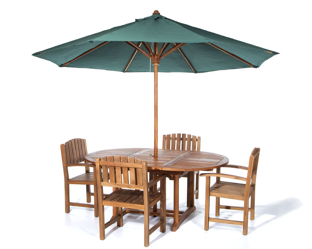 Exceptionnel This Set Includes Oval Extension Table + 4 Teak Dining Chairs ~ Cushion  Available In 4 Colors And Are Sold Separately. Teak Umbrella Shown In  Photos Is Also ...