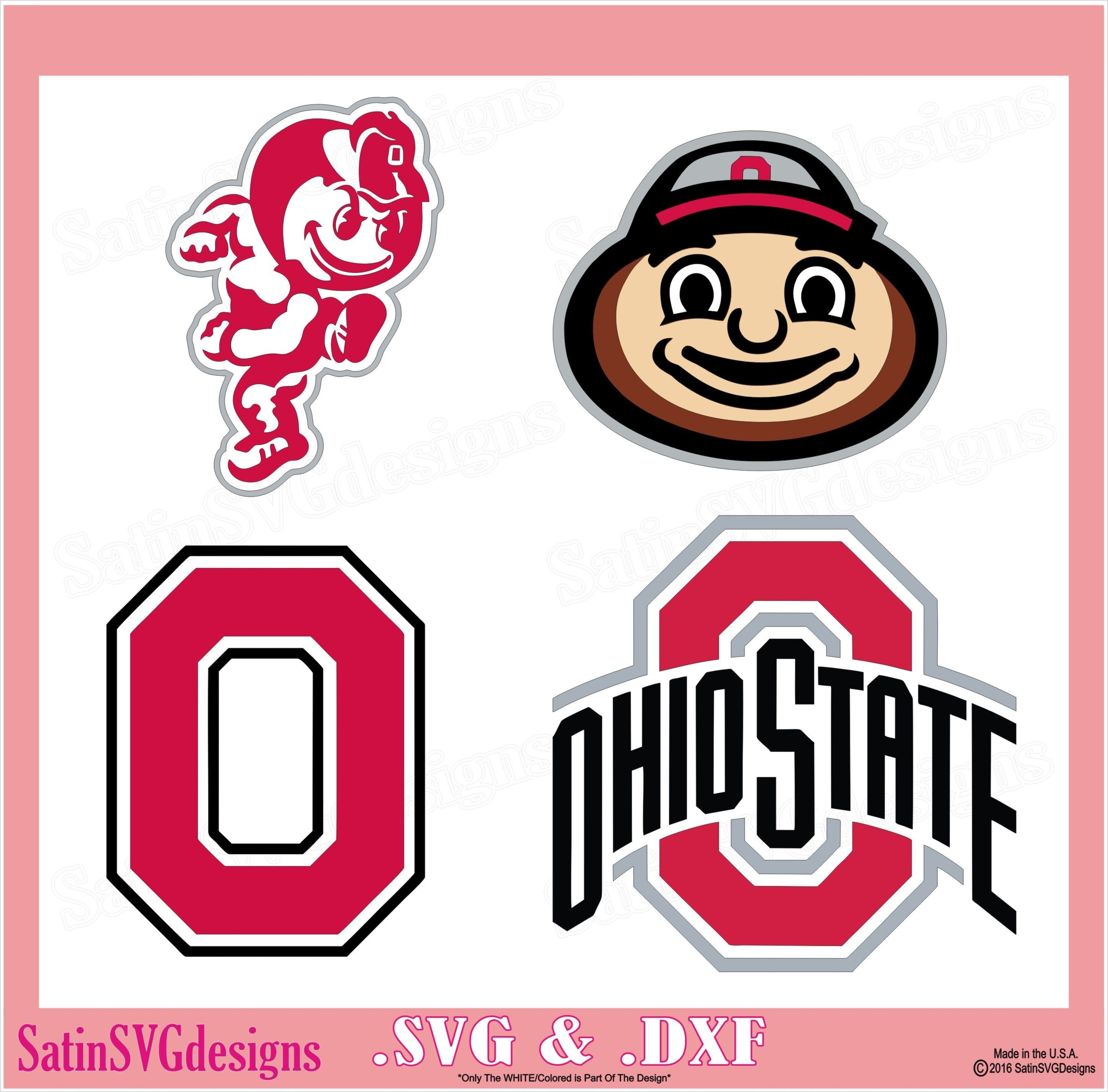 Ohio State Buckeyes Set College Design SVG Files, Cricut, Silhouette Studio, Digital Cut Files #ohiostatebuckeyes