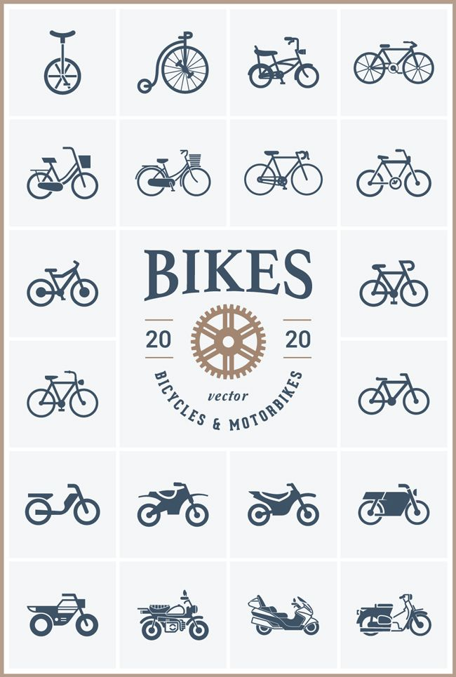 f7354238f3 Free Download   Bike Vector Pack (PSD