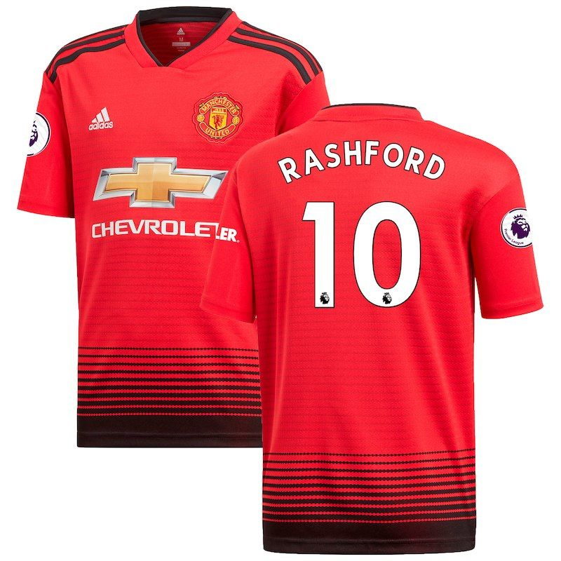 cd6b601b2 Marcus Rashford Manchester United adidas 2018 19 Home Replica Player Jersey  – Red