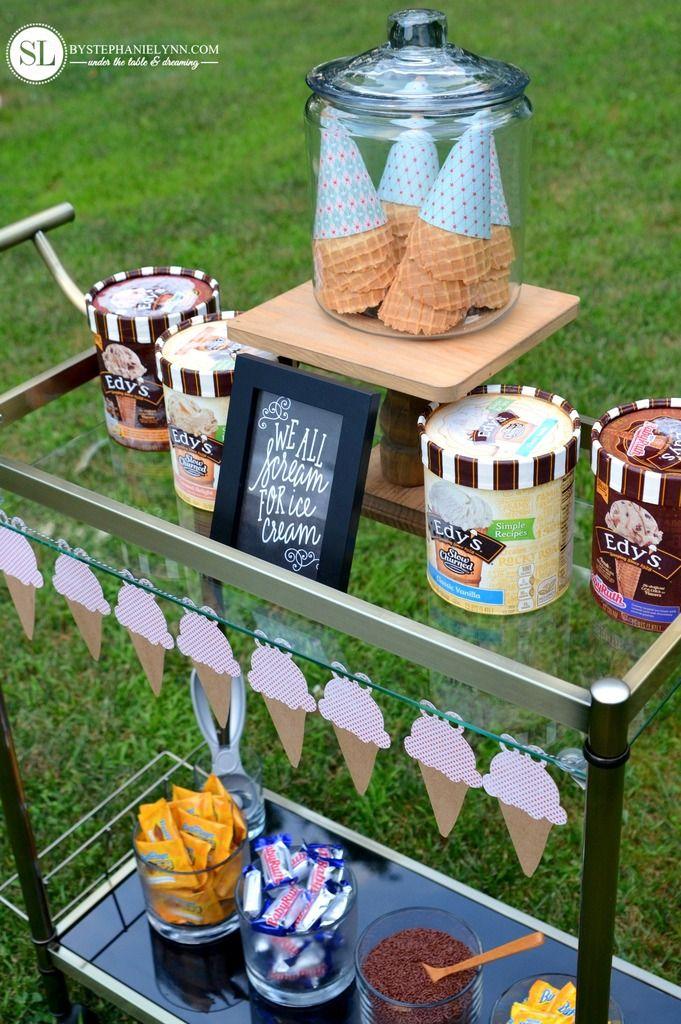 Backyard Game Night Ice Cream Social Ice cream social