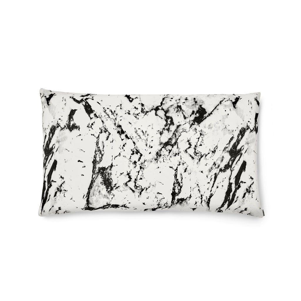2 mixed marble silk pillowcases queen size zippered