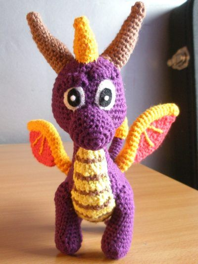Amigurumi Spyro The Dragon I made using a pattern found on Etsy ...