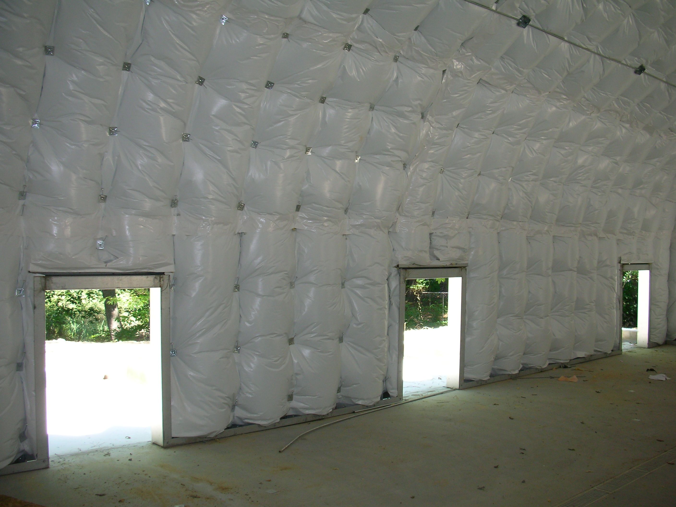Above the insulation can be attached using hardware or for Insulation options for new homes