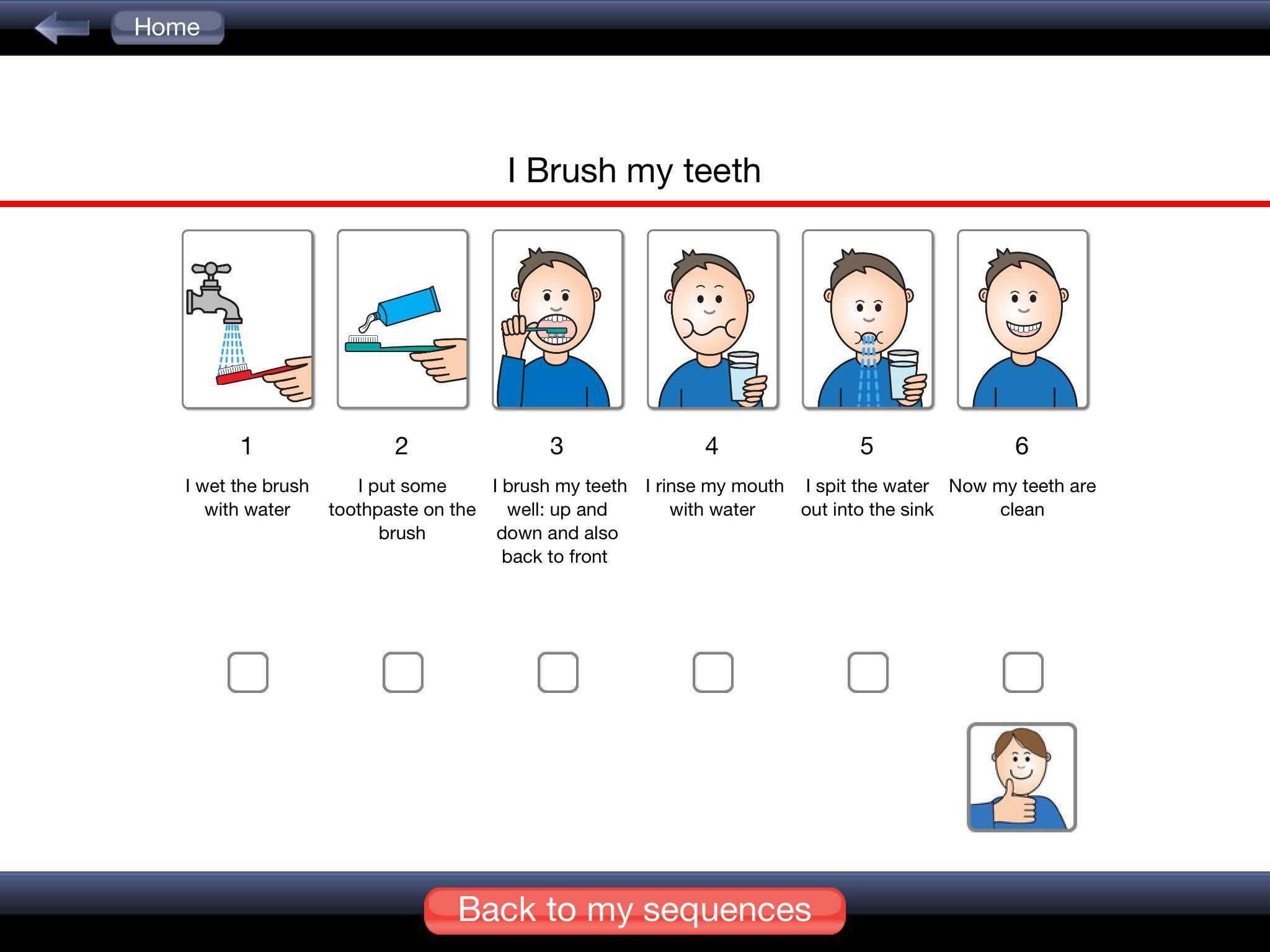 My Life Skills Box I Brush My Teeth Sequence With