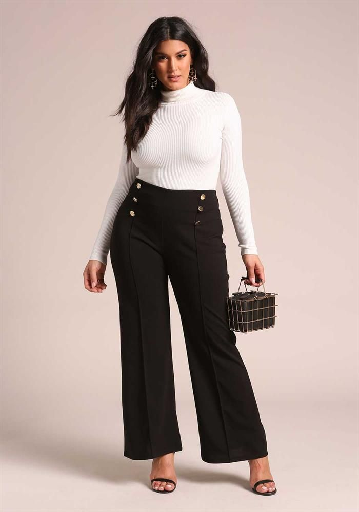 Plus Size Clothing Plus Size Double Breasted Dress Pants