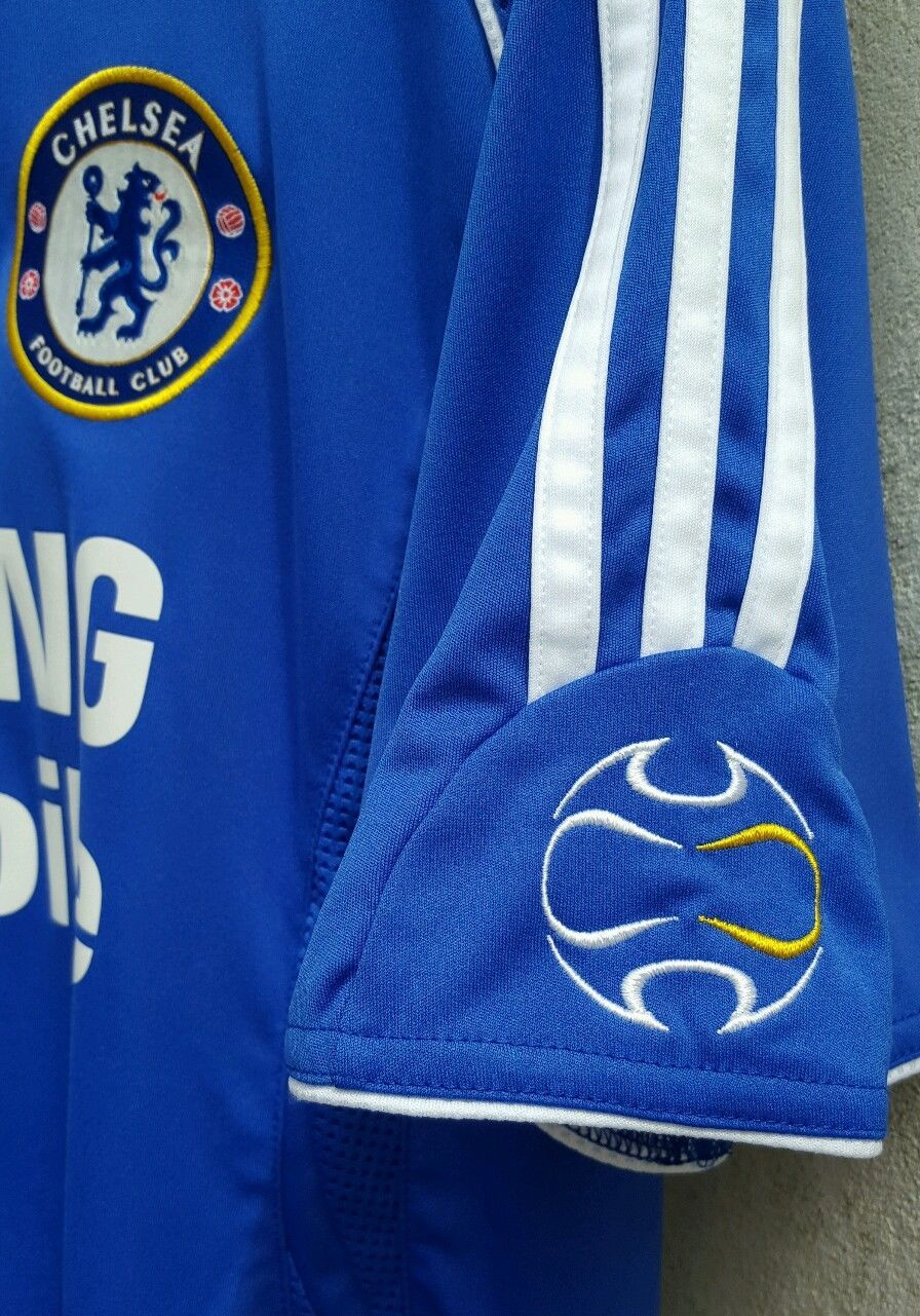 d5b0b0e47 Authentic Chelsea Adidas Home Football Club Climacool Samsung T-Shirt Size  M in Sports Memorabilia