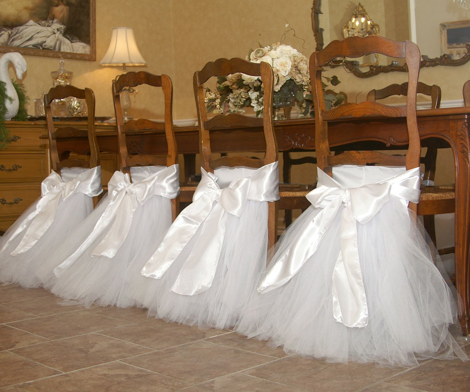 baby shower chair decorations custom patio cushion covers tutu for bridal birthday party