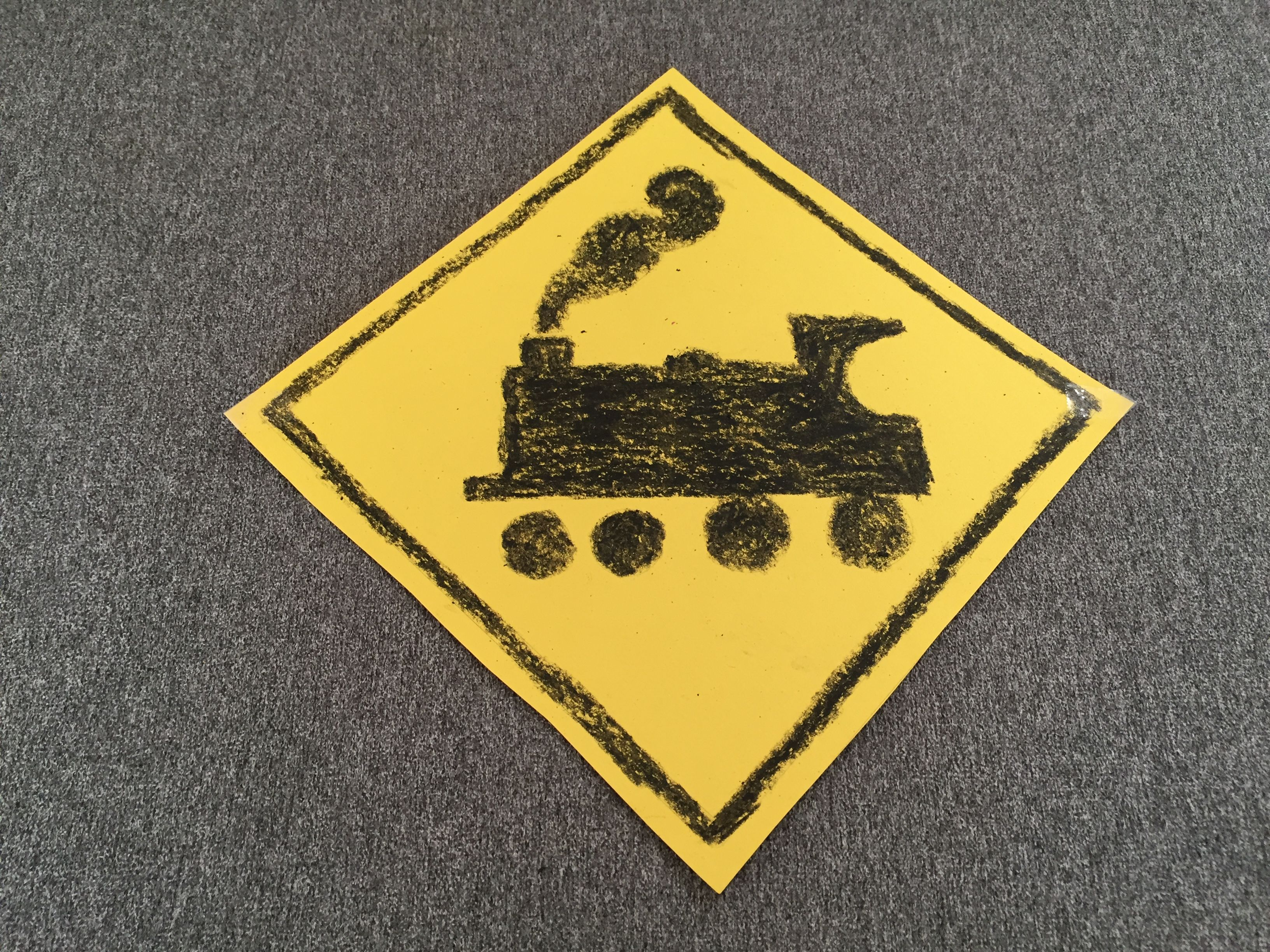 Trains Activity Station Sign With Images