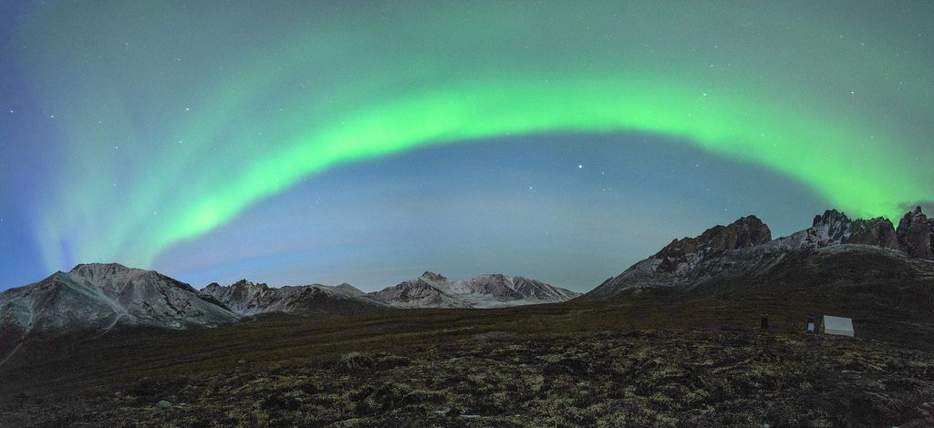 Panorama of northern light at Tombstone Territory, Canada   Flickr - Photo Sharing!