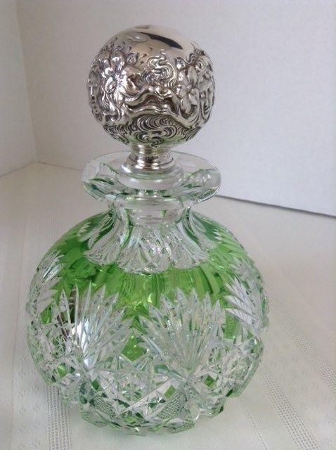 Ornate glass bottle | Etsy