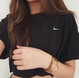Nike Shirt T Top Noir Npx0wk8o Nik Coat Tumblr Black Grunge Hat Hipster 51TlKJcuF3