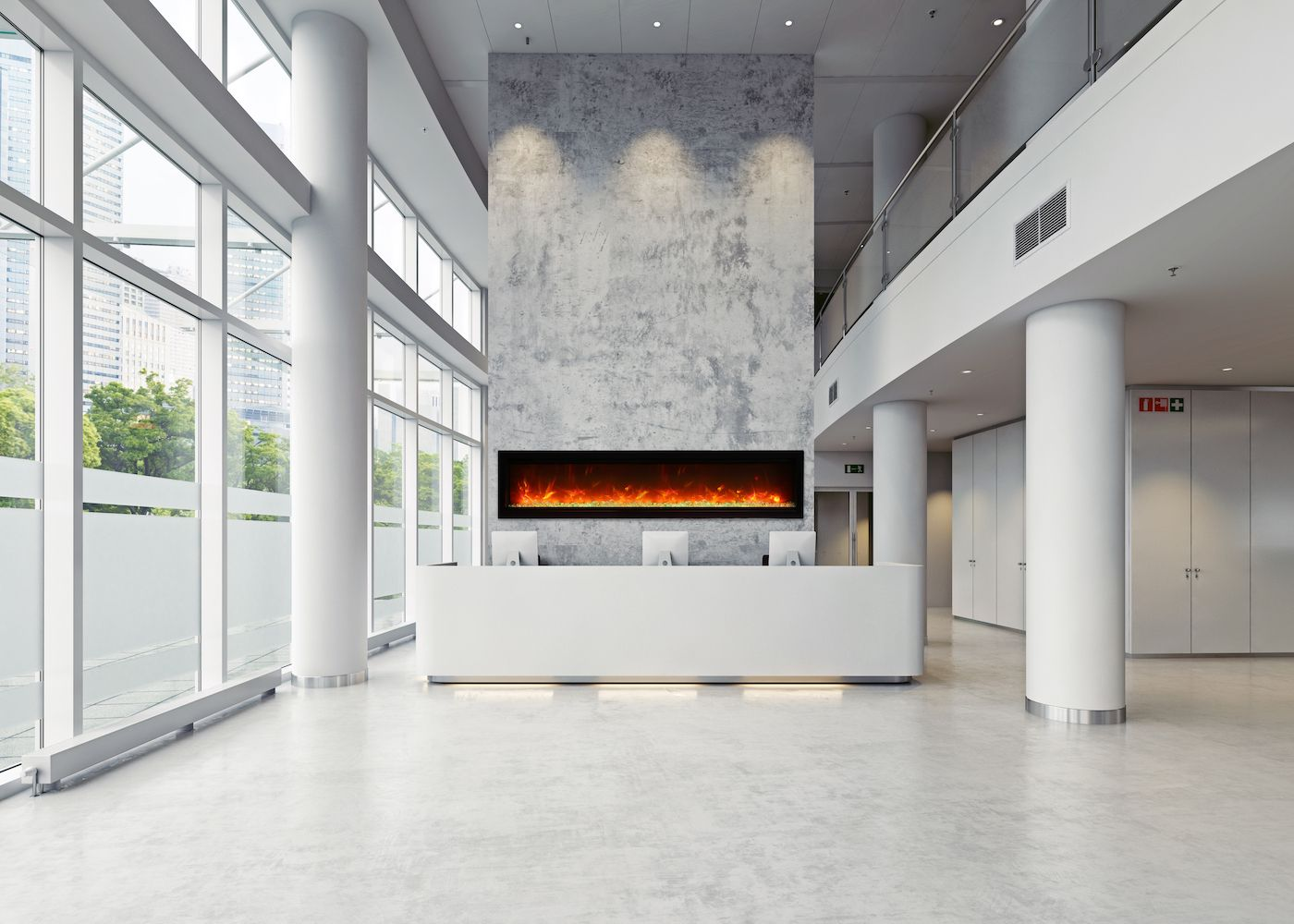 Amantii Symmetry B Built In Electric Fireplace With Fire Ice