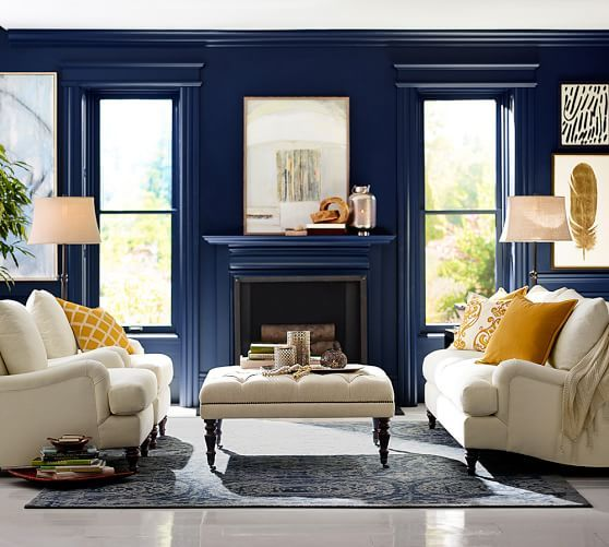 Wall color is Sherwin Williams Naval- Pottery Barn/Sherwin Williams ...