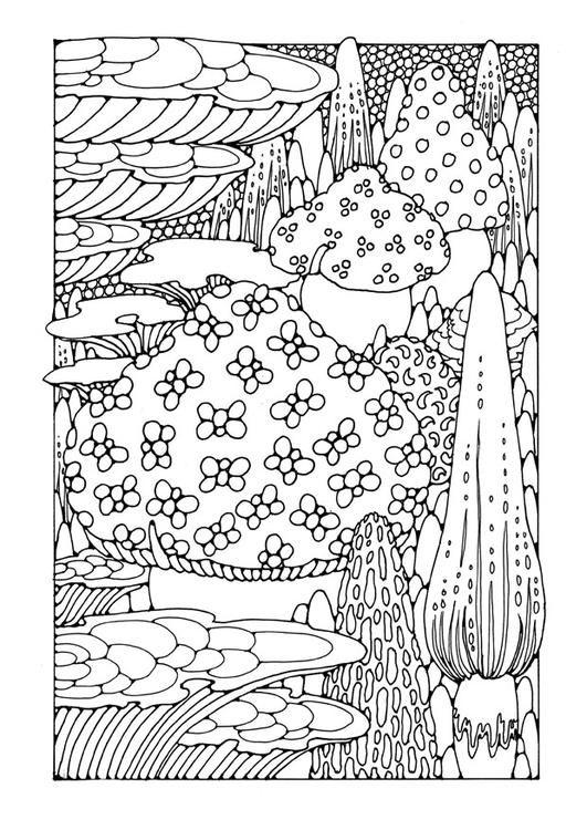 Coloring Page Mushrooms Img 25611 Mit Bildern Ausmalbilder Ausmalen Malvorlagen
