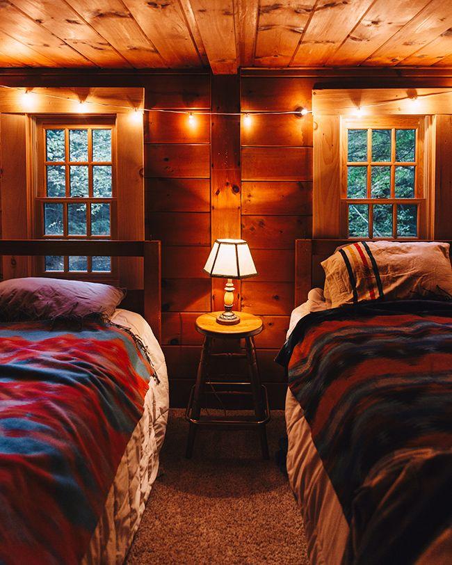 Cozy Cabin Weekend Log cabin bedrooms, Cozy cabin