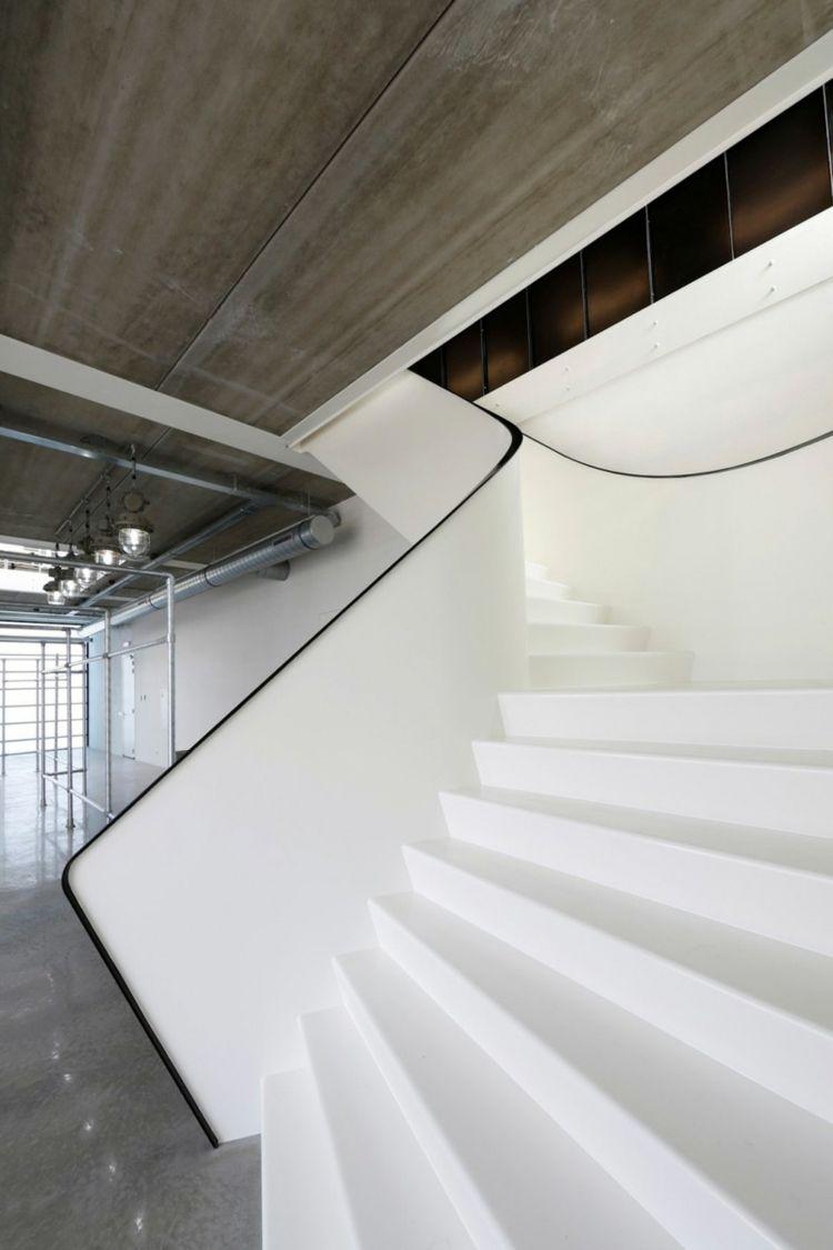 treppe in minimalistischem stil bilder, treppe in minimalistischem stil – 9 weiße designs mit pepp | pinterest, Design ideen