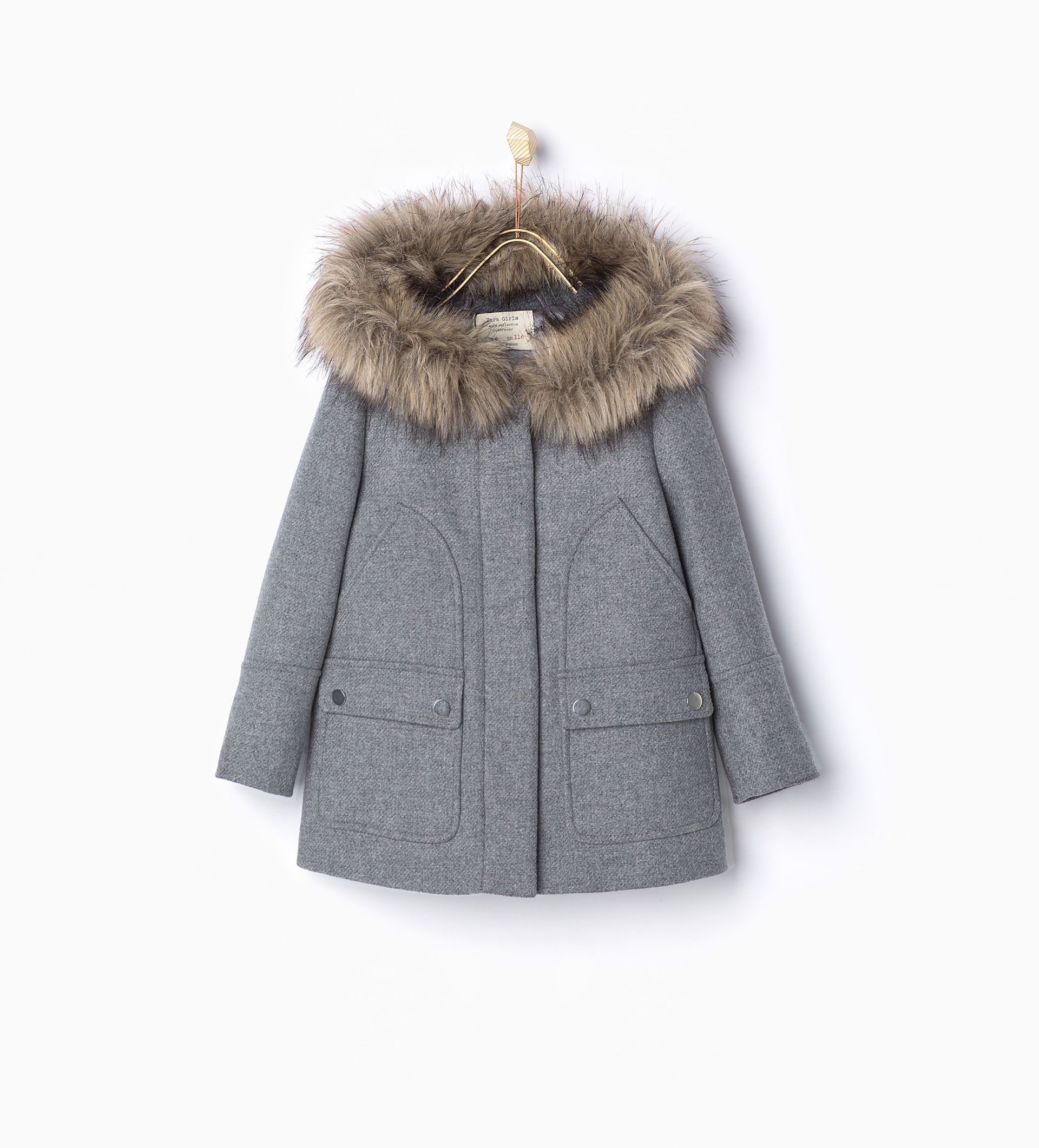 Faux Fur Wool Parka Must Haves Girl 4 14 Years