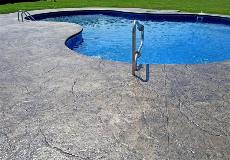 Stamped Concrete Pool Deck Stamped Concrete Concrete Pool Pool