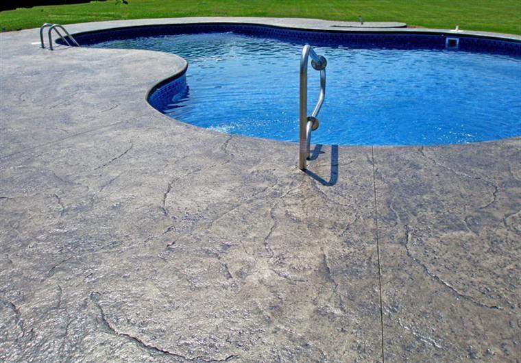 stamped concrete pool deck | pool hardscape | pinterest | stamped