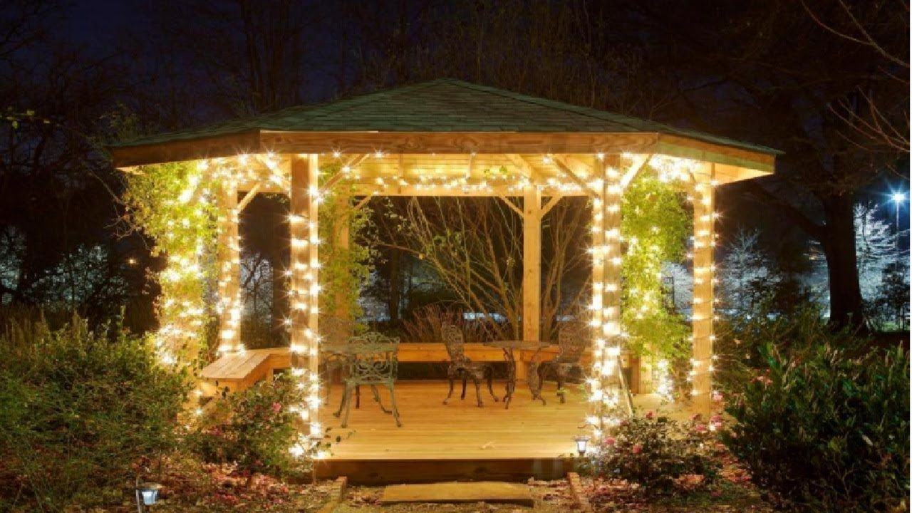 Make Your Night Colorful With Gazebo Lights In 2020 Gazebo Lighting Garden Gazebo Backyard Gazebo