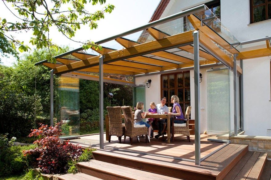 Cordula verandas patio awnings wood aluminium for Deco veranda
