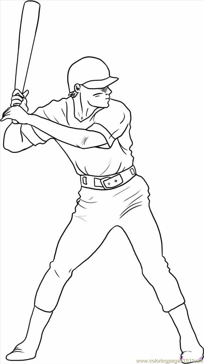 Baseball Player Coloring Pages 138 | Free Printable Coloring Pages ...