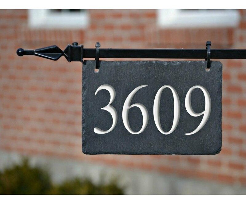 Address 1Line Hanging Sign in 2020 House numbers