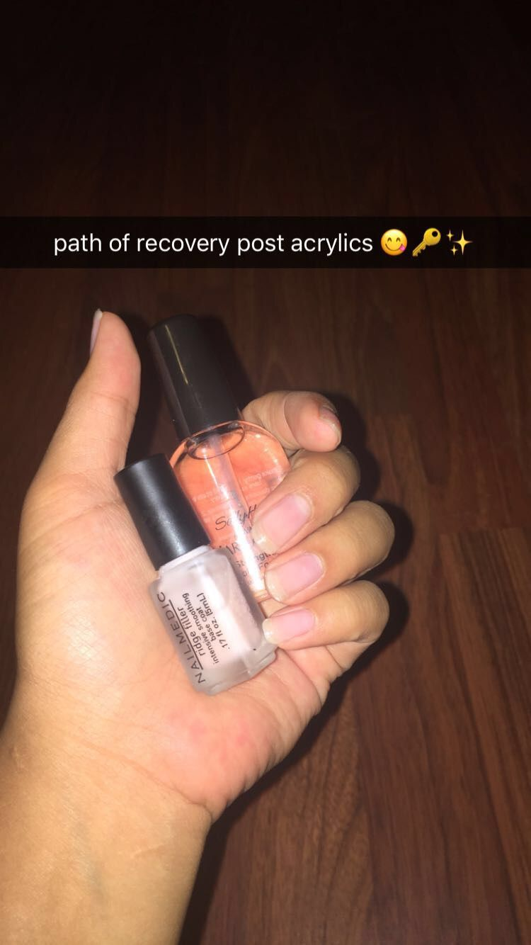 acrylic nails can really cause damage to your natual nails. i used ...