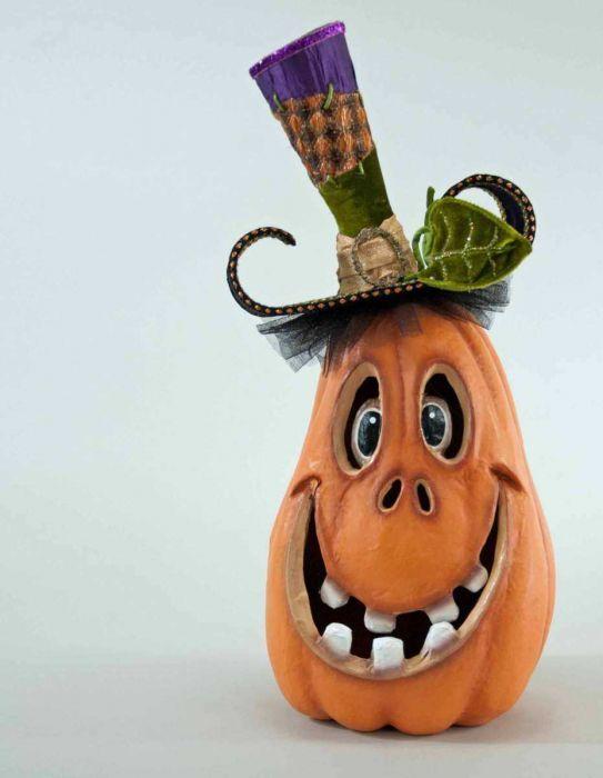 Pumpkin Patch Tall Carved Pumpkin Face