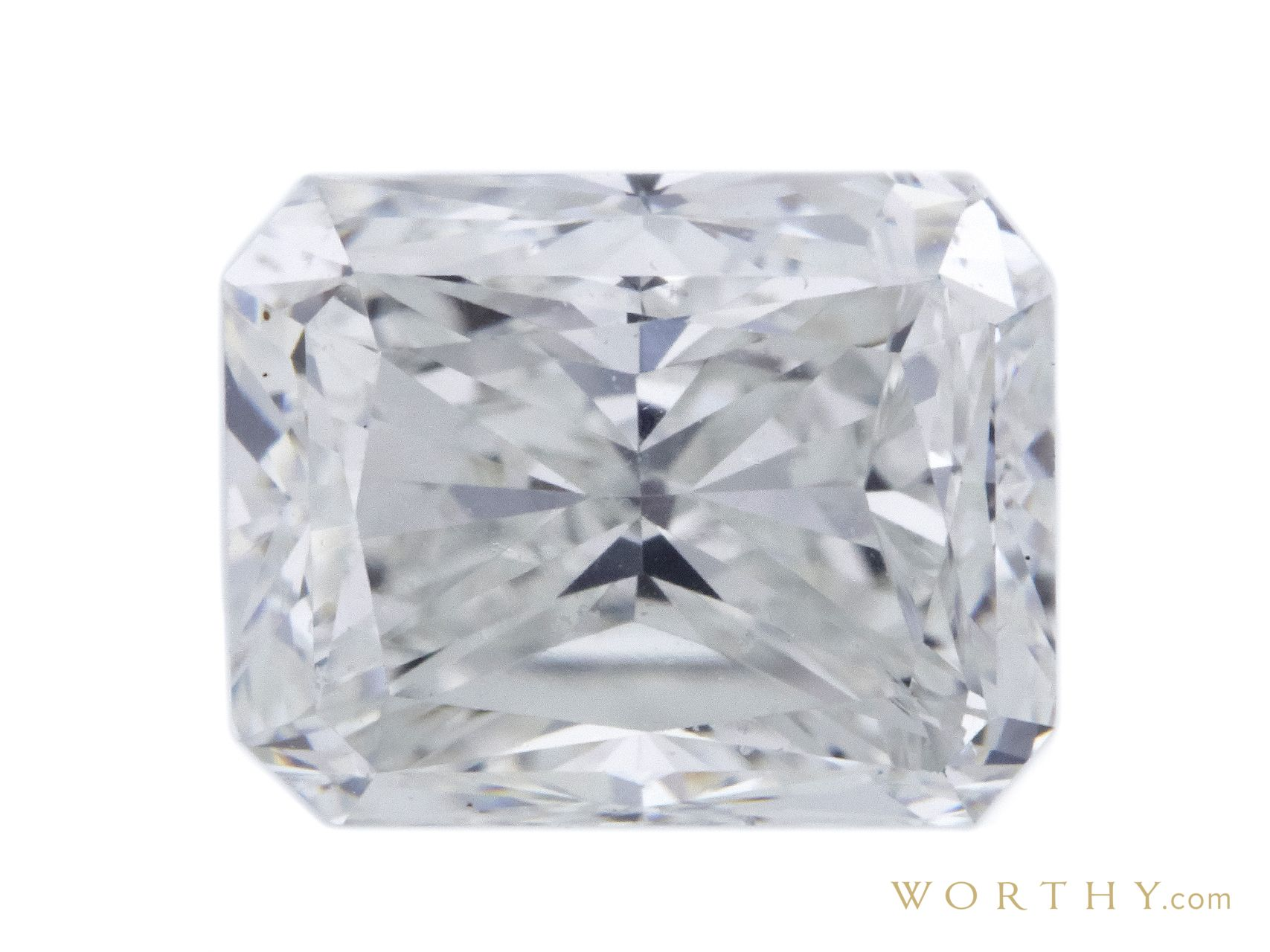 GIA 1.20 CT Radiant Cut Bridal Set Ring Sold at Auction for $2,719