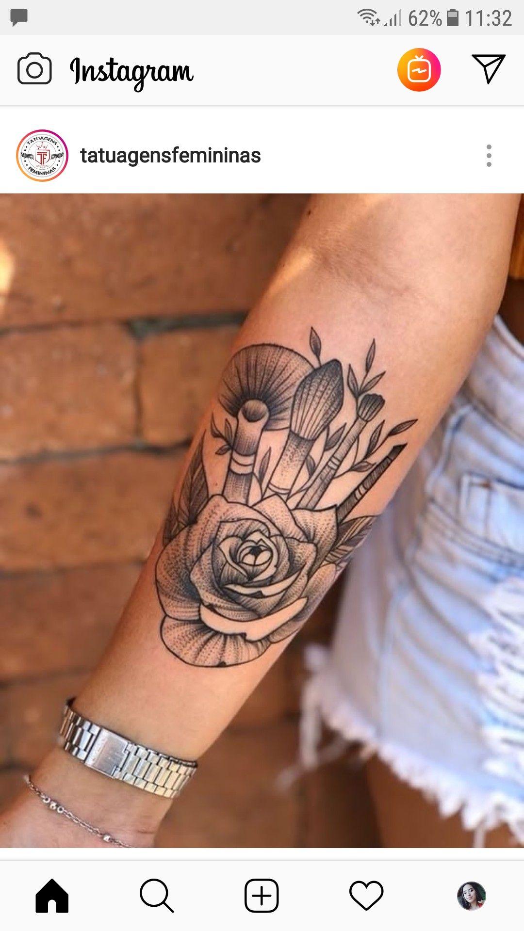 Tatuagem make Tatuagens de maquiagem, Tatuagens de batom