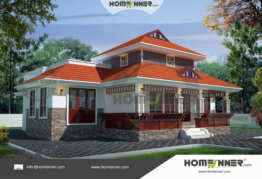 1200 Sq Ft 3 Bhk Kerala Veedu Style House Exterior Kerala House Design House Design Kerala Houses