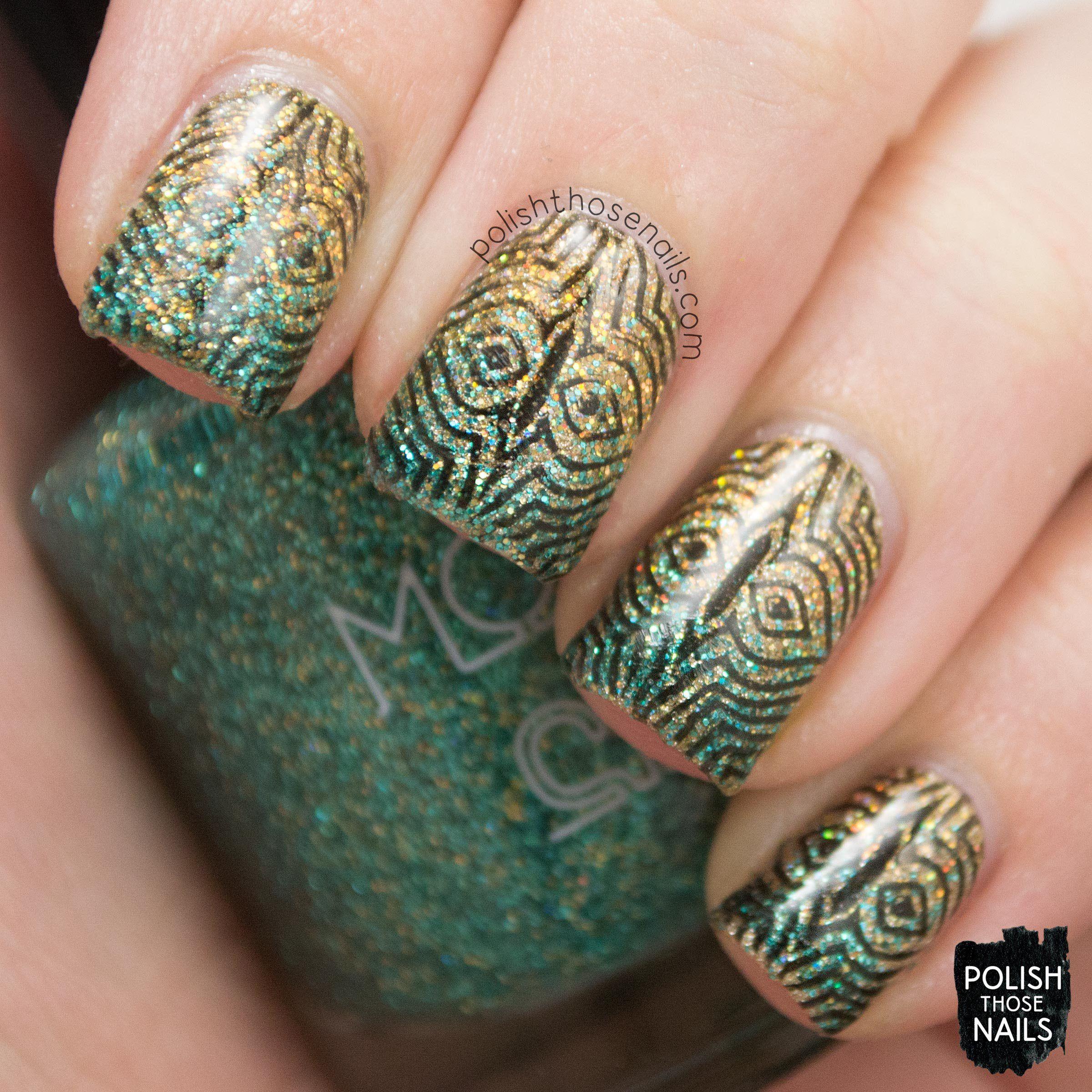 nails, nail art, nail polish, gradient, glitter, polish those nails ...