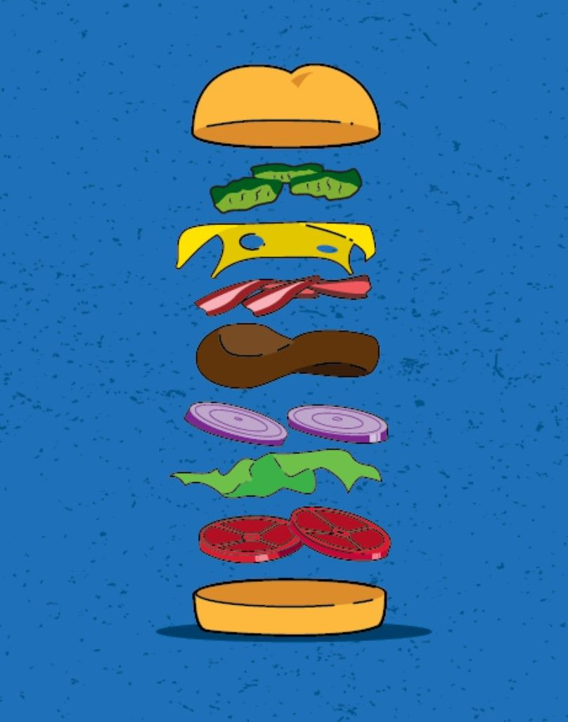 Colored Krabby Patties : colored, krabby, patties, Krabby, Patty, Recipe,, Spongebob, Drawings,, Cartoon,, Wallpaper