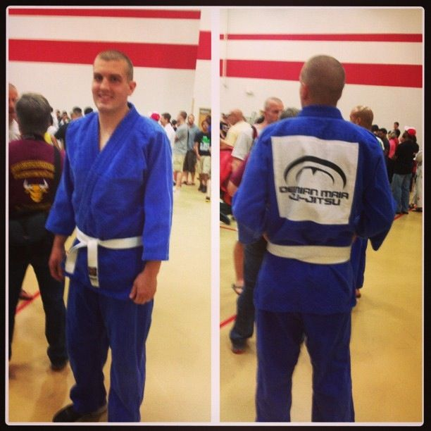 Me in my #GI at the #CTBJJF tournament! #DemianMaia #ZenQuest #BJJ