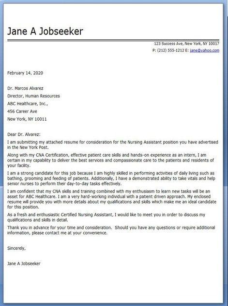 Certified Medical Assistant Cover Letter - http://jobresumesample ...