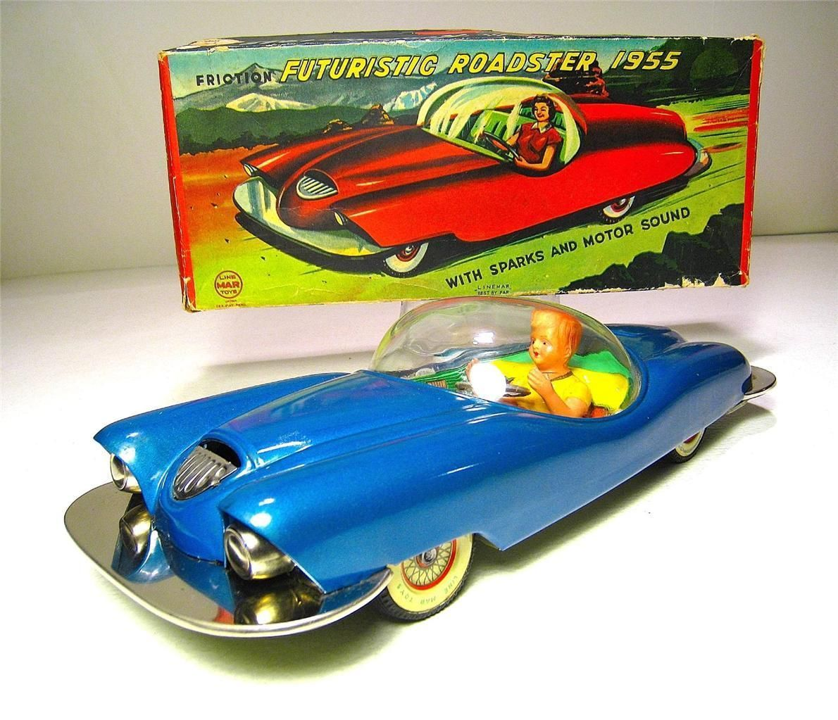 Linemar Futuristic Car. Friction Powered toy from 50s/ebay | Vintage ...