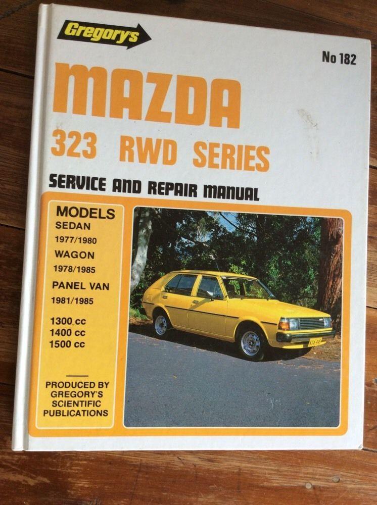 gregory s no 182 mazda 323 rwd series 1977 1985 book car service rh pinterest com Chilton Auto Repair Manual Mitchell Online Auto Repair Manuals