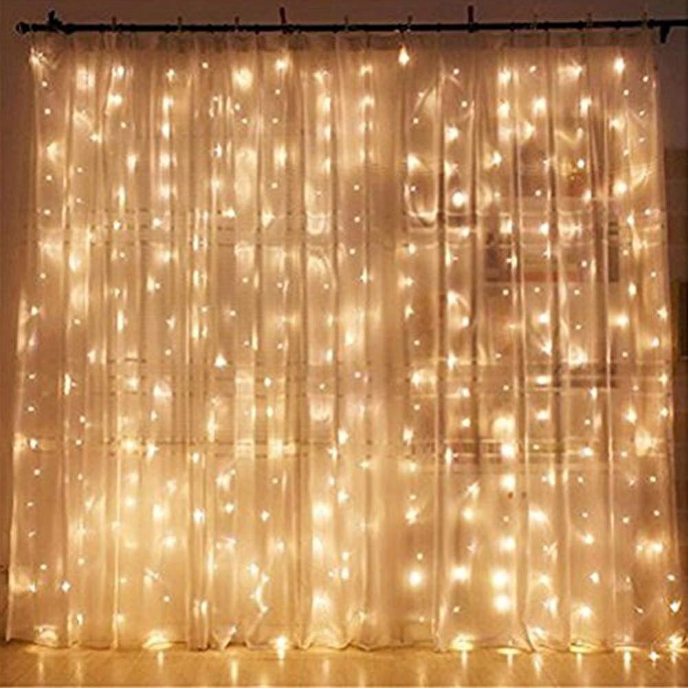 Amazon Com Twinkle Star 300 Led Window Curtain String Light