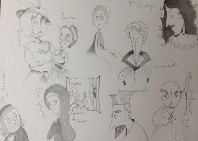 Anna Pini Illustrations and drawings #promessisposi #manzoni #pencils #blackandwhite #funny #illustration #literature #Italy