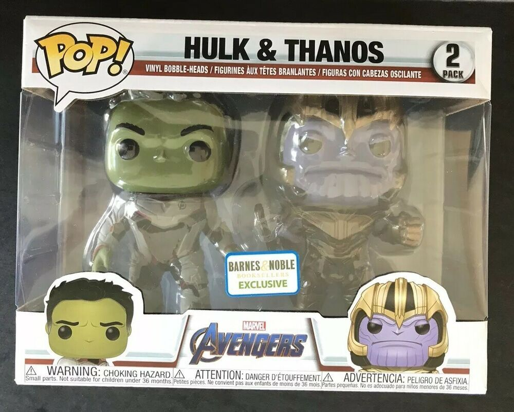 Funko POP! Marvel Avengers Endgame Hulk & Thanos 2 Pack Barnes