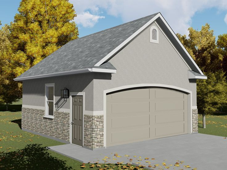 065G0008 Stylish TwoCar Garage Plan Provides Extra