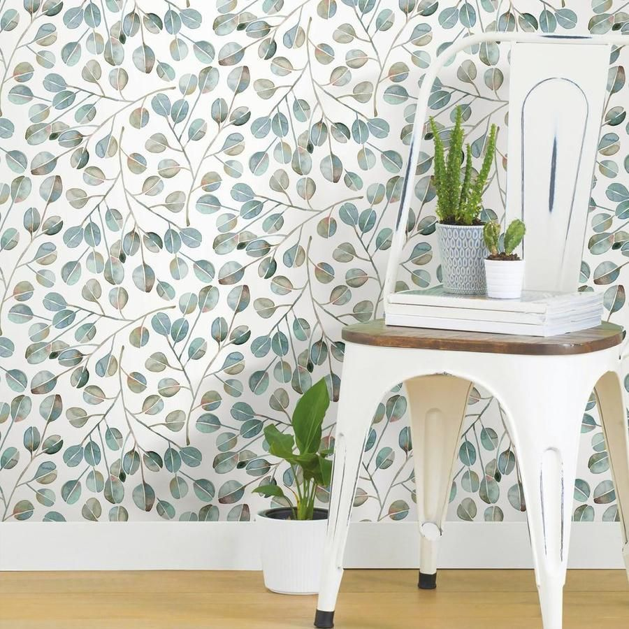 Cat Coquillette Eucalyptus Peel Stick Wallpaper Peel And Stick Wallpaper Room Visualizer Wallpaper Roll
