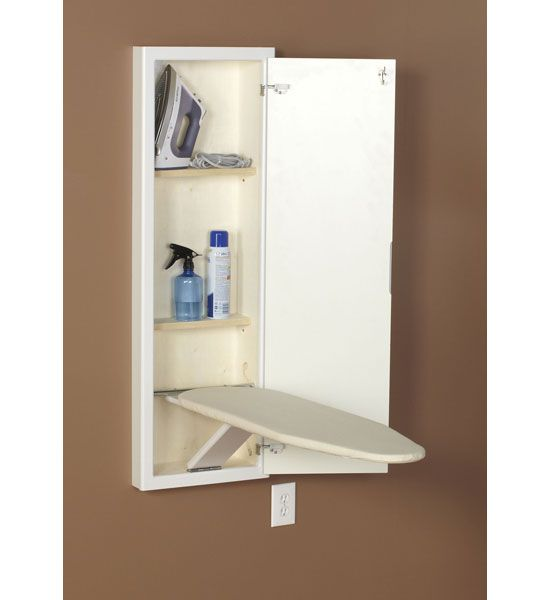 This In Wall Ironing Board And Cabinet Is Available In A Clean White Finish  And Will