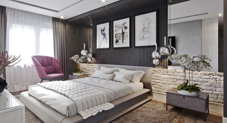 Einsatz von Holz und Stein im Schlafzimmer   Schlafzimmer...bedroom ...