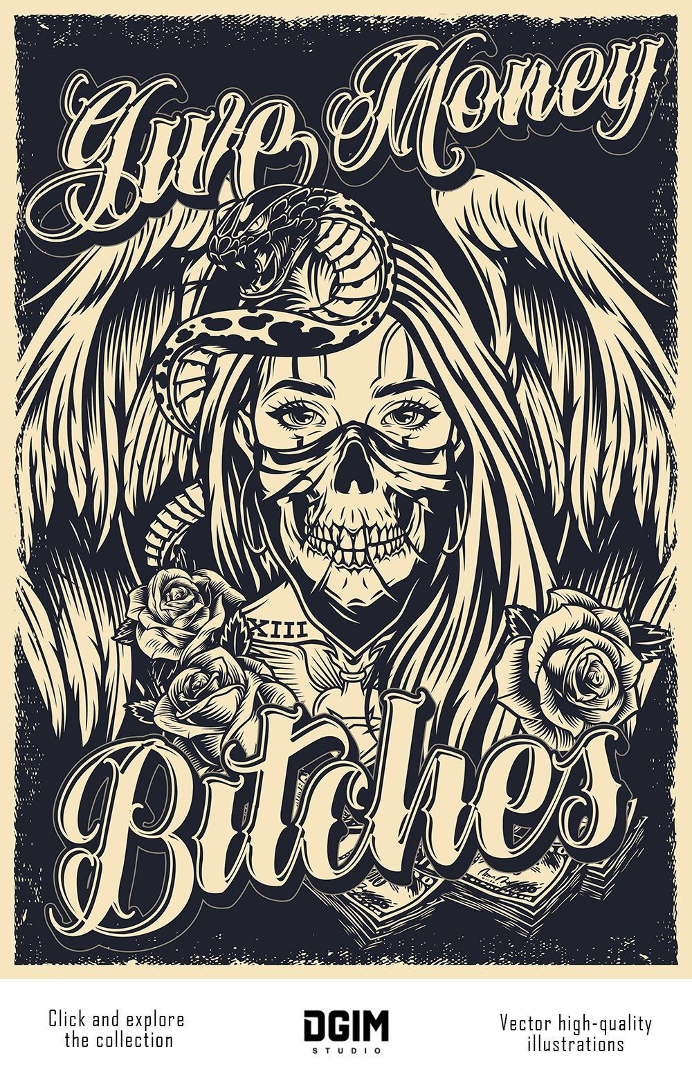 60 Chicano Vector Designs In 2020 Tattoo Posters Poster Design Vector Design