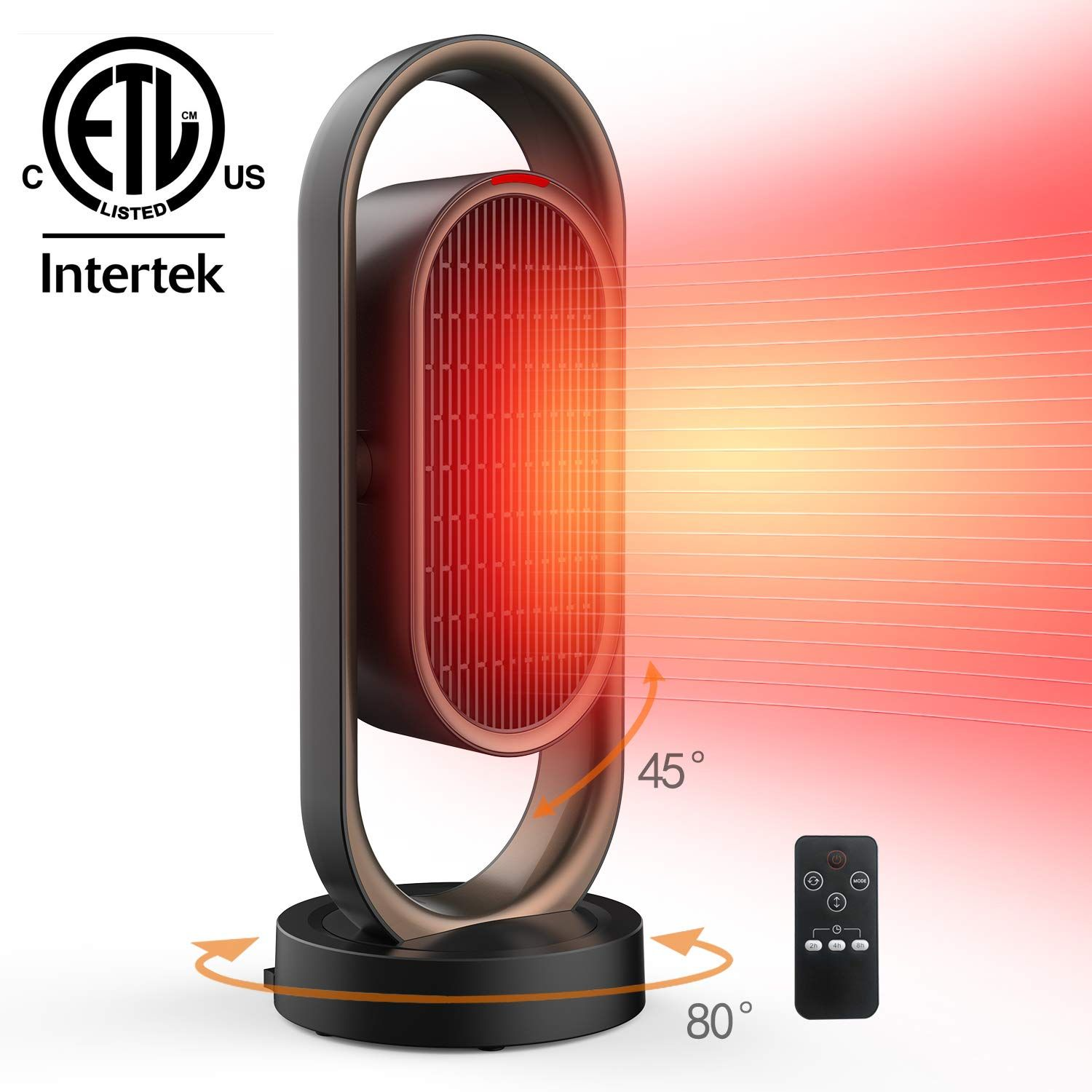 Space Heater For Home Office Ceramic Quiet Tower Heater 1 Seconds Heat Up Portable Small Personal In 2020 Space Heater Tower Heater Heater Fan