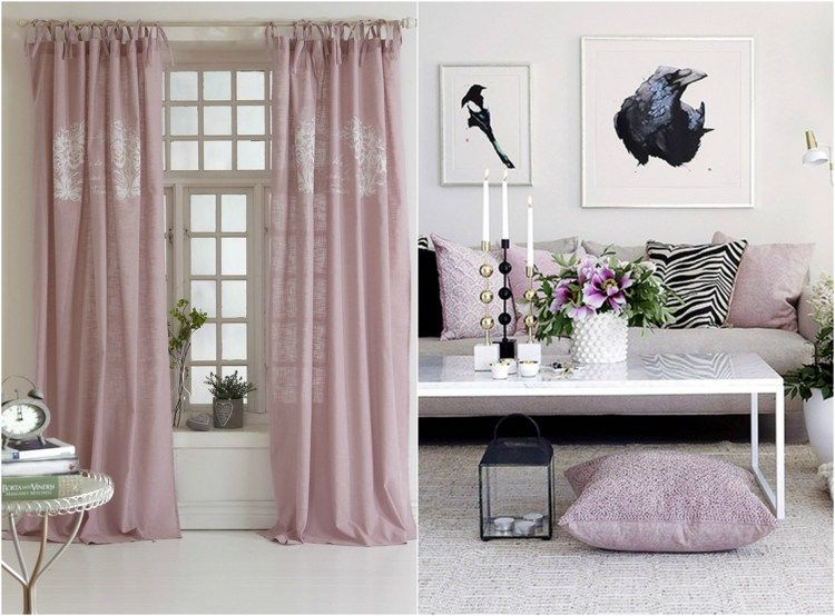 romantisch wohnen vorh nge und kissenbez ge in rosa regalk sungen in 2019. Black Bedroom Furniture Sets. Home Design Ideas
