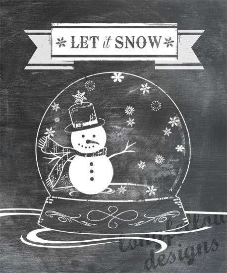 Let It Snow Snowman Snowflake Christmas Snow Globe Etsy In 2021 Christmas Chalkboard Art Christmas Snow Globes Christmas Chalkboard